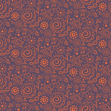 Rwild_floral_doodle_orange_on_lilac_final_150dpi_shop_preview