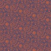 Rwild_floral_doodle_orange_on_lilac_final_150dpi_shop_thumb