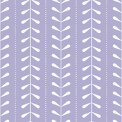 VINES | Pale Periwinkle + White