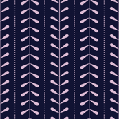 VINES | Navy Blue + Pale Pink