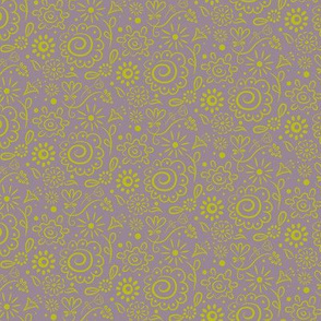 Wild_Floral_doodle_chartreuse_on_dusty_lilac