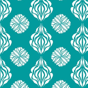 SINGAPORE FLORAL  Turquoise