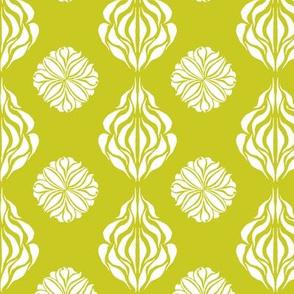 SINGAPORE FLORAL Chartreuse