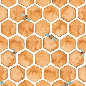 Honey Bee Hexagons.