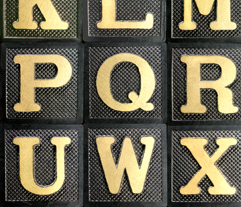 Anagram Alphabet - large fabric by rawbonestudio on Spoonflower - custom fabric