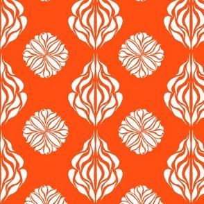 SINGAPORE FLORAL  Clear Orange