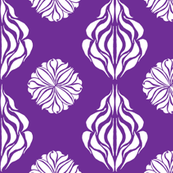 EASTERN FLORAL ABSTRACT Royal Purple