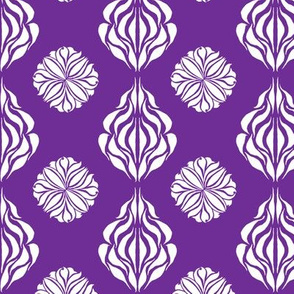 SINGAPORE FLORAL Royal Purple