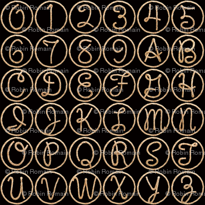 Lasso Alphabet - medium