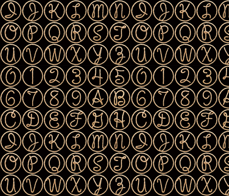 Lasso Alphabet - small fabric by rawbonestudio on Spoonflower - custom fabric