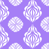 EASTERN FLORAL ABSTRACT Violet