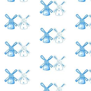 Watercolour Windmills