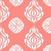 EASTERN FLORAL ABSTRACT Peach