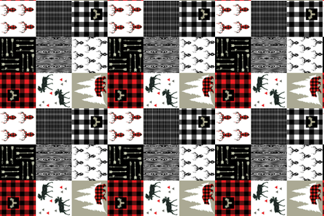 "NORTH WOODS RED 6"" fabric by moosedesigncompany on Spoonflower - custom fabric"