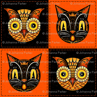 Halloween_Cat_Owl_checkerboard