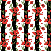 Painted Poppies-BIG Stripe
