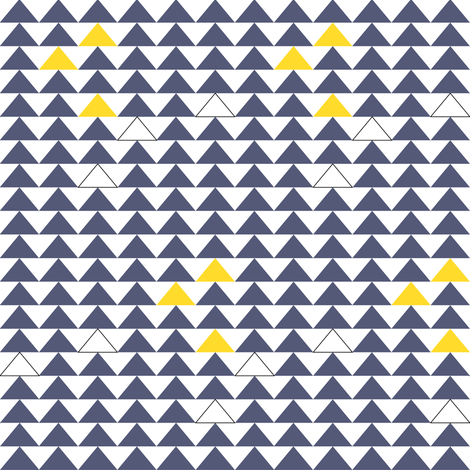 triangles blue/yellow fabric by meissa on Spoonflower - custom fabric
