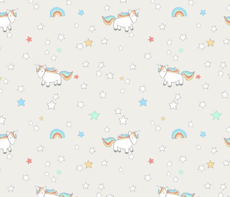 unicorn beige fabric by meissa on Spoonflower - custom fabric