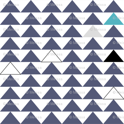 triangles blue/white
