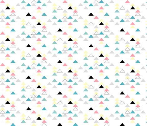 triangles mix fabric by meissa on Spoonflower - custom fabric