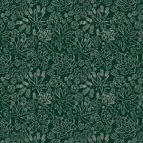 Succulent Garden - Dark Green