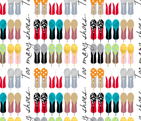 Too Many Shoes (Version 2) fabric by faedesign on Spoonflower - custom fabric