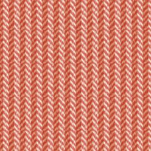 Desert Terracotta Chevron Ikat