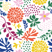 paper cut floral summerhouse print