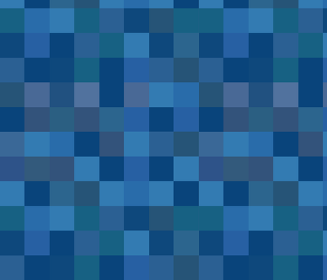 Arcade Ahri Blouse Blue Pixel checkered Pattern Cosplay fabric by valoran on Spoonflower - custom fabric