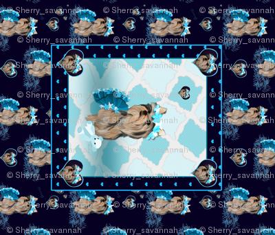 Yorkie - Rag Quilt Panel - Brandywhine