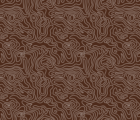 Brown and White Stripes Wave Elevation Topographic Topo Map Pattern  fabric by khaus on Spoonflower - custom fabric