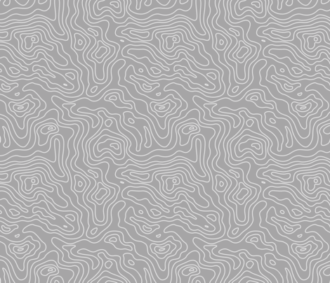 Gray Grey and White Stripes Wave Elevation Topographic Topo Map Pattern  fabric by khaus on Spoonflower - custom fabric