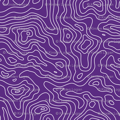 Purple and White Stripes Wave Elevation Topographic Topo Map Pattern -01-01-01-01