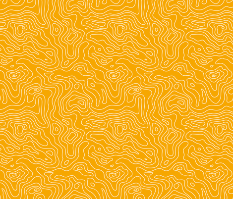 Yellow Gold and White Stripes Wave Elevation Topographic Topo Map Pattern -01-01-01-01-01-01 fabric by khaus on Spoonflower - custom fabric