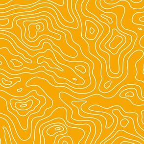 Yellow Gold and White Stripes Wave Elevation Topographic Topo Map Pattern -01-01-01-01-01-01