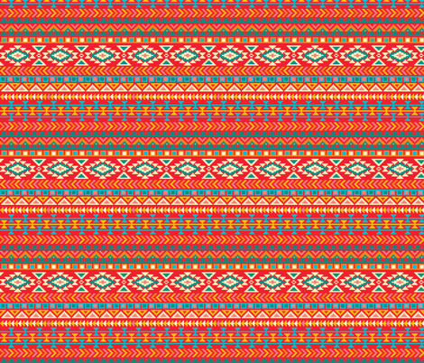 Aztec Tribal Native American Mexican  fabric by khaus on Spoonflower - custom fabric