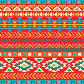 Aztec Tribal Native American Mexican Mayan Boho Pattern