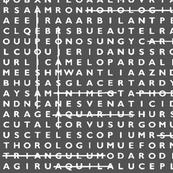 Grey Crossword Puzzle