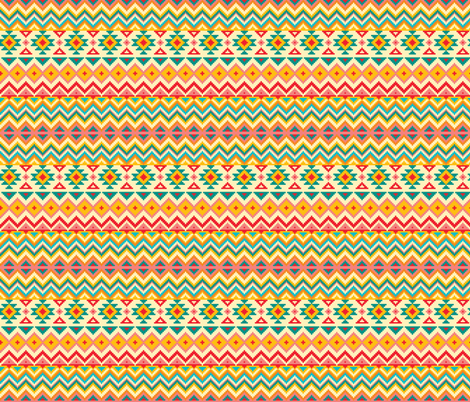 Aztec Tribal Native American Mexican Mayan Boho Pattern fabric by khaus on Spoonflower - custom fabric