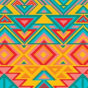 Aztec Tribal Native American Mexican Mayan Boho Pattern-05-01