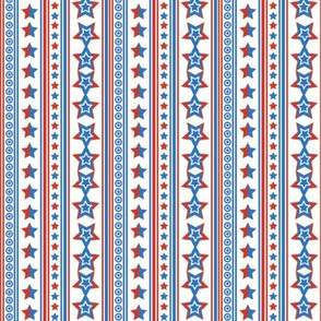 July 4 Stars and Stripes, Red, Blue