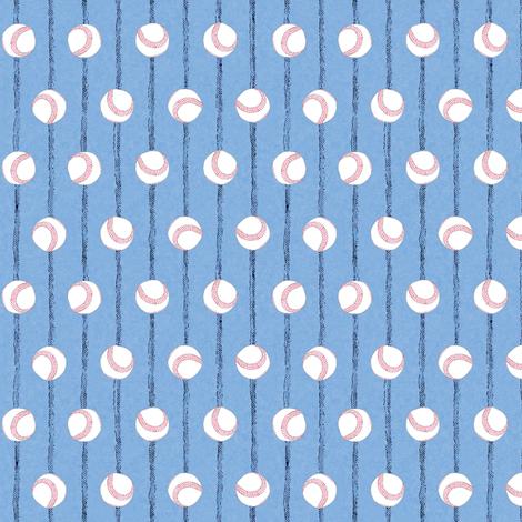 Baseball Blue Pin Stripes fabric by palifino on Spoonflower - custom fabric