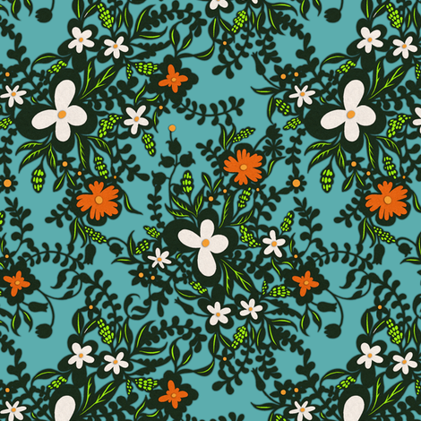 Paper Florals 1 fabric by jadegordon on Spoonflower - custom fabric