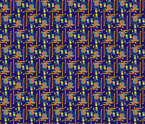 Sew Time Navy fabric by retro_red on Spoonflower - custom fabric