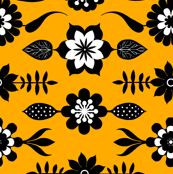 High Contrast Flowers and Leaves