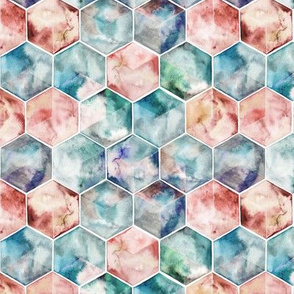 Translucent Watercolor Hexagons small version