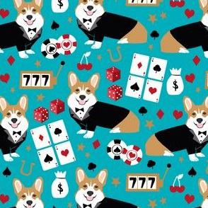 corgi casino fabric corgi dog pets slot machines corgis dog - peacock