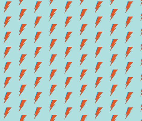 Ziggy Aqua fabric by bashfulbirdie on Spoonflower - custom fabric