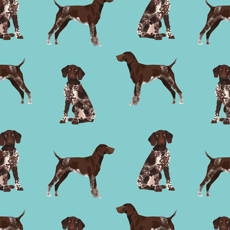 german shorthaired pointer fabric dogs pets and dog fabric fabric by petfriendly on Spoonflower - custom fabric