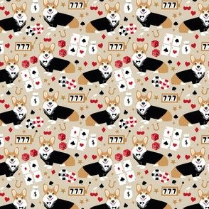 corgi casino fabric las vegas corgi dogs fabric gambling blackjack, cards